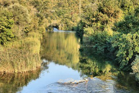 res: cetina river, omis, croatia Stock Photo