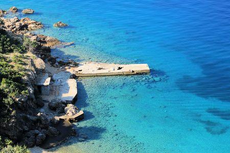 view on the island Rab, Croatia 版權商用圖片