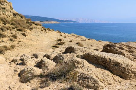 blue sea near Lopar on the island Rab, Croatia