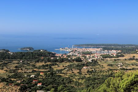 view on the old town of Rab, Croatia