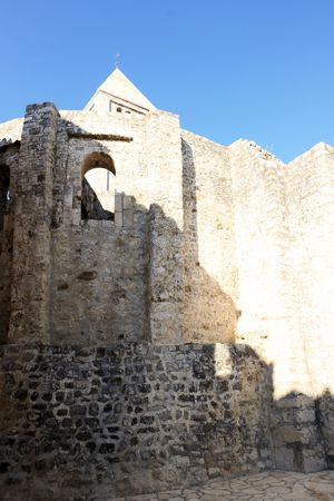 church in the old town of Rab, Croatia 版權商用圖片