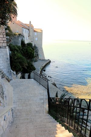 view in the old town of Rab, Croatia