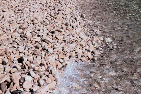 pebbled beach 版權商用圖片