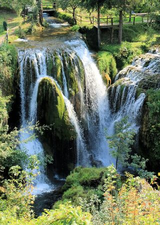 waterfalls in Rastoke, Croatia
