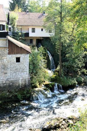 view in Rastoke, Croatia