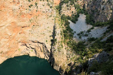 the red lake of Imotski, Croatia Stock Photo