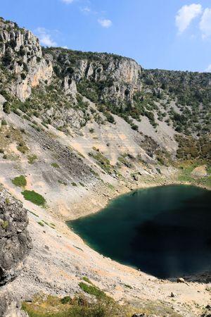 view on the blue lake or Imotski, Croatia