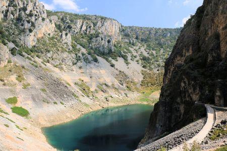 blue lake in Imotski, Croatia