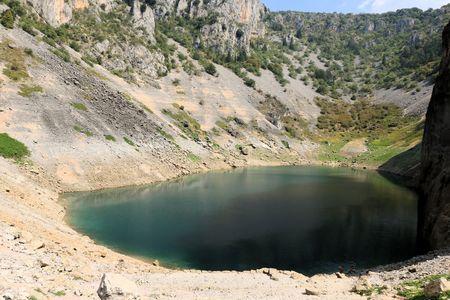 the blue lake of Imotski in Croatia