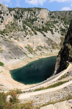 the Blue lake in Imotski, Croatia