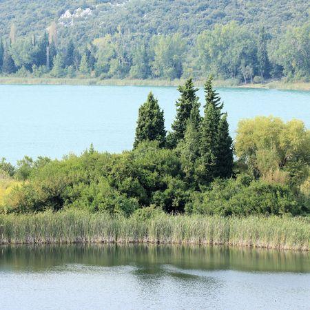 Bacina lakes in Croatia 版權商用圖片