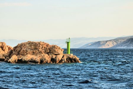 green lighthouse on Rab, Croatia