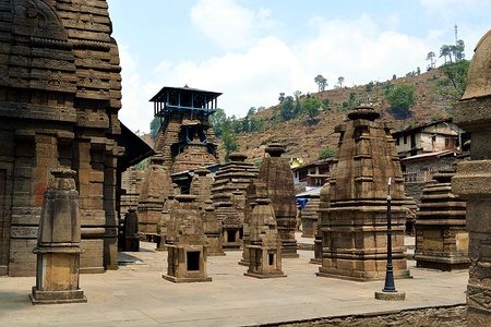 Temple of Shiva In Northern India. Stock Photo