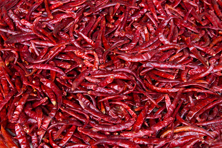 chilly: dried red chilly chilli Stock Photo