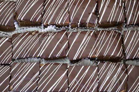 good cholesterol: brownie white chocolate dark chocolate Stock Photo