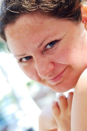 beatitude: Woman with a feline look