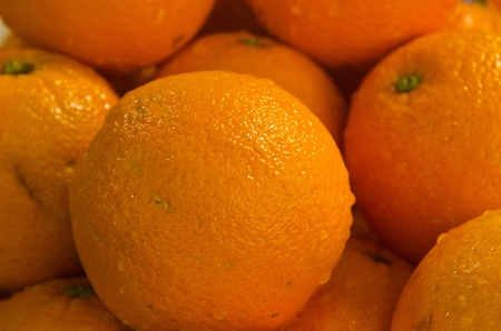 mandarins orange background Stock Photo - 10416369