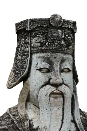 face of chinese deities statue,wat pho,Thailand
