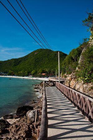 walk way at koh larn,thailand Stock Photo - 11051057