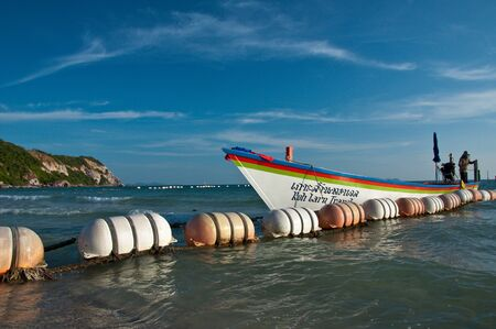 longtail boats at koh larn,thailand