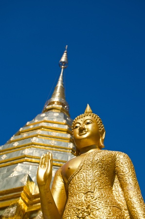 Buddhist Temple of Wat Phrathat Doi Suthep in Chiang Mai, Thailand photo