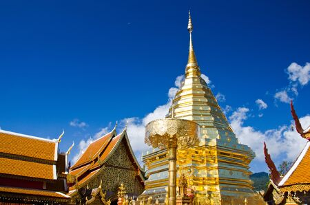 Buddhist Temple of Wat Phrathat Doi Suthep in Chiang Mai, Thailand Stock Photo - 11562390