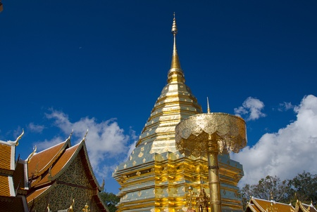 Buddhist Temple of Wat Phrathat Doi Suthep in Chiang Mai, Thailand
