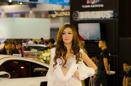 BANGKOK, THAILAND - DECEMBER 6: Unidentified female presenter at BARBUS booth in THE 28th THAILAND INTERNATIONAL MOTOR EXPO 2011 on December 6, 2011 in Bangkok, Thailand.