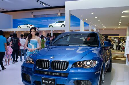 BANGKOK - MARCH 31: BMW car with unidentified model on display at The 33th Bangkok International Motor Show on March 31, 2012 in Bangkok, Thailand. Editorial