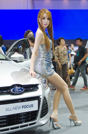 BANGKOK - MARCH 31: Ford car with unidentified model on display at The 33th Bangkok International Motor Show on March 31, 2012 in Bangkok, Thailand.