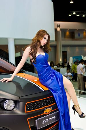 BANGKOK - MARCH 31: Chevrolet car with unidentified model on display at The 33th Bangkok International Motor Show on March 31, 2012 in Bangkok, Thailand.