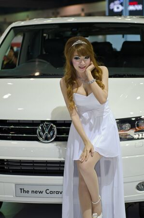 BANGKOK - MARCH 31: Volkswagen car with unidentified model on display at The 33th Bangkok International Motor Show on March 31, 2012 in Bangkok, Thailand.