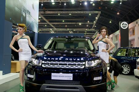 BANGKOK - MARCH 31: Rover car with unidentified model on display at The 33th Bangkok International Motor Show on March 31, 2012 in Bangkok, Thailand.