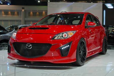 BANGKOK - April 4: Mazda car on display at The 33th Bangkok International Motor Show on April 4, 2012 in Bangkok, Thailand. Editorial