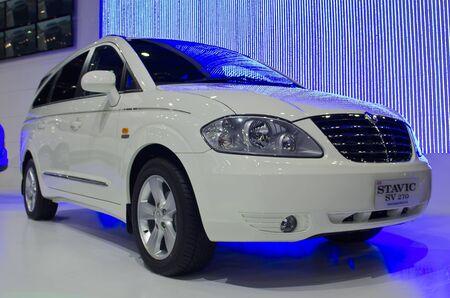 BANGKOK - April 4: Ssangyong car on display at The 33th Bangkok International Motor Show on April 4, 2012 in Bangkok, Thailand. Editorial
