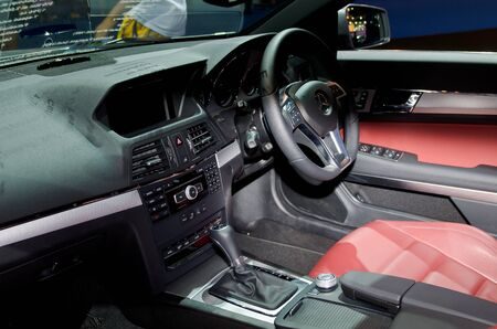 BANGKOK - April 4: Inside Benz car on display at The 33th Bangkok International Motor Show on April 4, 2012 in Bangkok, Thailand. Stock Photo - 13096248
