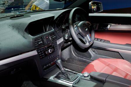 BANGKOK - April 4: Inside Benz car on display at The 33th Bangkok International Motor Show on April 4, 2012 in Bangkok, Thailand.