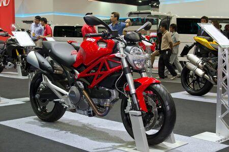 BANGKOK - April 4: DUCATI motorcycle on display at The 33th Bangkok International Motor Show on April 4, 2012 in Bangkok, Thailand.