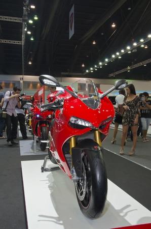BANGKOK - April 4: DUCATI motorcycle on display at The 33th Bangkok International Motor Show on April 4, 2012 in Bangkok, Thailand. Stock Photo - 13096215