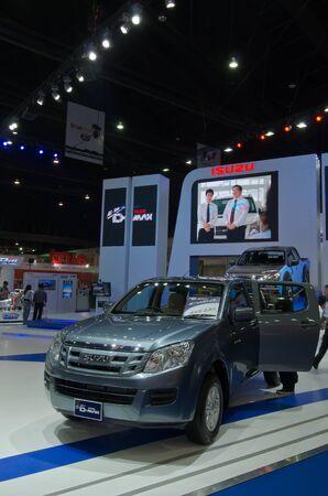 BANGKOK - April 4: Isuzu car on display at The 33th Bangkok International Motor Show on  April 4, 2012 in Bangkok, Thailand. Stock Photo - 13096186
