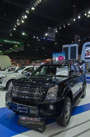 BANGKOK - April 4: Isuzu car on display at The 33th Bangkok International Motor Show on  April 4, 2012 in Bangkok, Thailand.