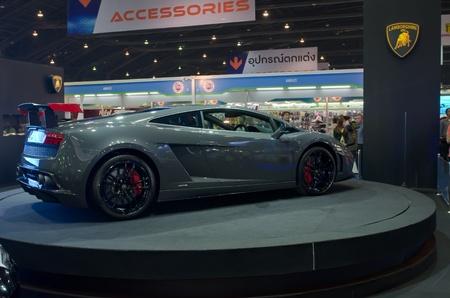 BANGKOK - April 4: Lamborghini car on display at The 33th Bangkok International Motor Show on April 4, 2012 in Bangkok, Thailand.