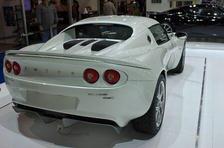 BANGKOK - April 4: Lotus car on display at The 33th Bangkok International Motor Show on April 4, 2012 in Bangkok, Thailand. Editorial