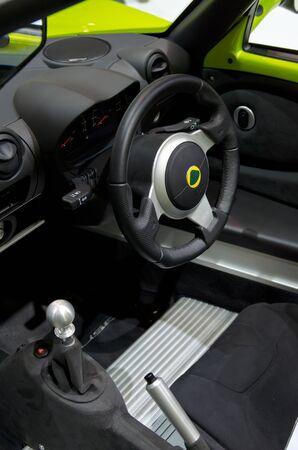 BANGKOK - April 4: Inside Lotus car on display at The 33th Bangkok International Motor Show on April 4, 2012 in Bangkok, Thailand.
