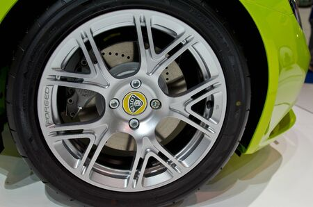 BANGKOK - April 4: Wheel of Lotus car on display at The 33th Bangkok International Motor Show on April 4, 2012 in Bangkok, Thailand.