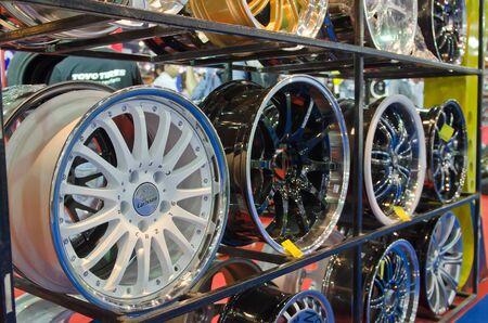 BANGKOK - April 4: Wheels on display at The 33th Bangkok International Motor Show on April 4, 2012 in Bangkok, Thailand.