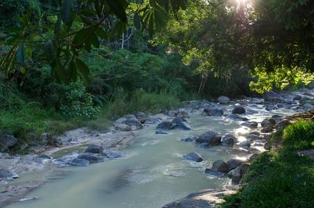 pebbles or rocks in creek or stream flowing water