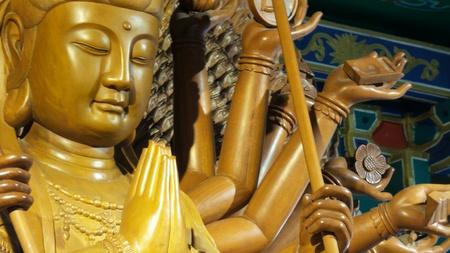 thousand: Thousand-Hand Guan Yin Stock Photo