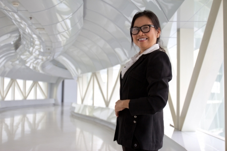 Portrait of a  CEO businesswoman  standing photo