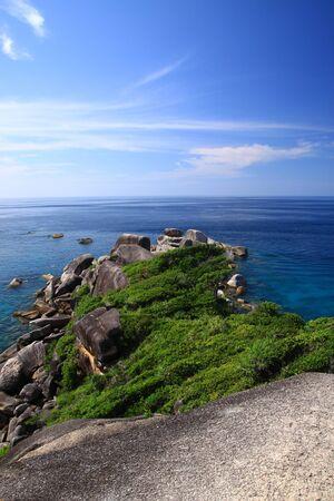 blue sky on andaman sea photo
